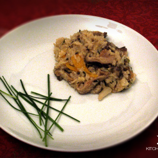 Risoto de Shitake (com arroz integral)