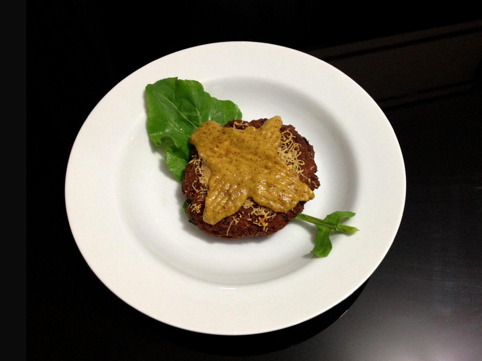 Hambúrguer de lentilha(vegetariano e vegano)
